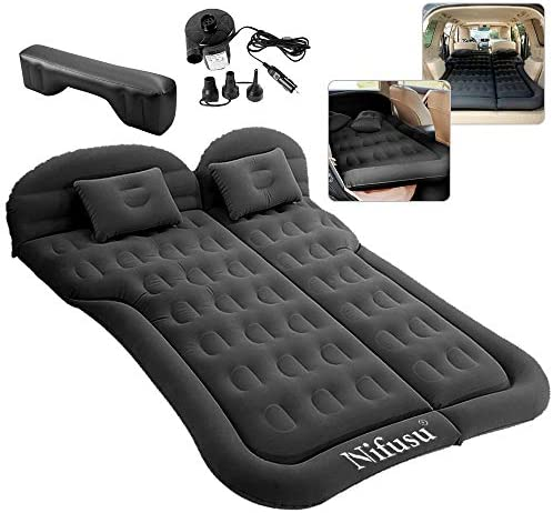 Nifusu SUV Air Mattress Camping Beds Inflatable Thickened Car Mattress Backseat with Two Pillow product image