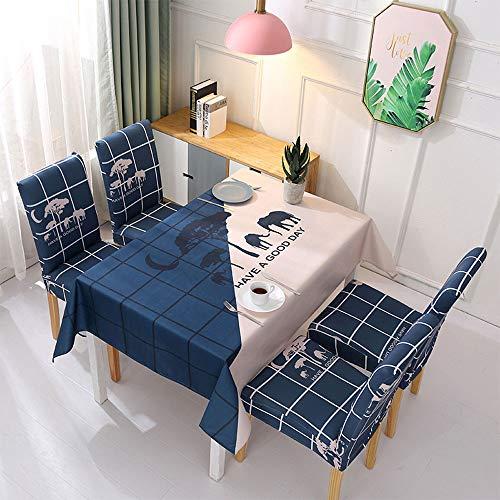 XBAO tafelkleed, gecoat, rechthoekig, tafelkleed van polyester, stofbescherming, multifunctioneel, voor gebruik binnenshuis, eettafel, picknickkleed, tegen vocht