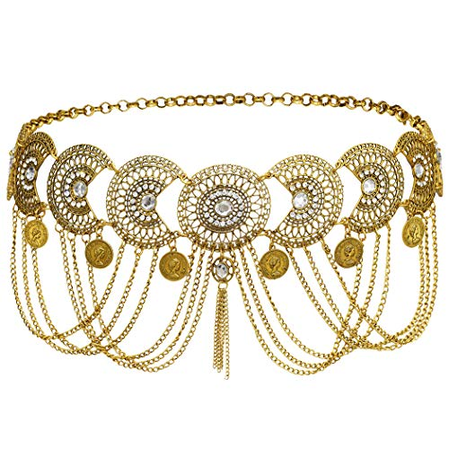 If you wear this body chain with Bikini,you will look more charming and attractive. The belly chain fits many different occasions, you can wear it to costume party, dance party, wedding, swimming pool, beach and more. Size: the body chain length abou...