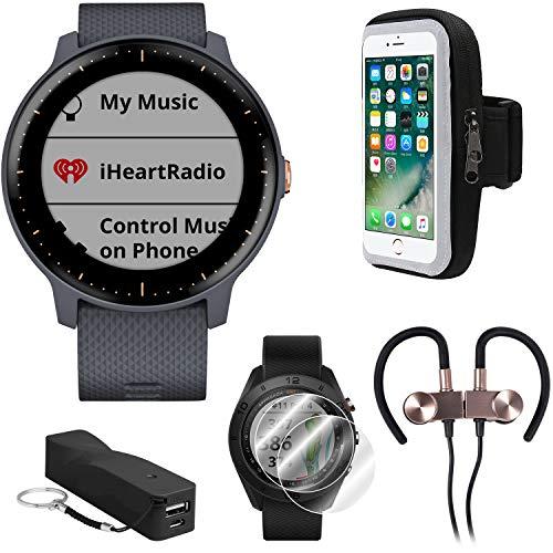 Garmin Vivoactive 3 Music GPS Smartwatch w/Deco Gear Runner Bundle -...