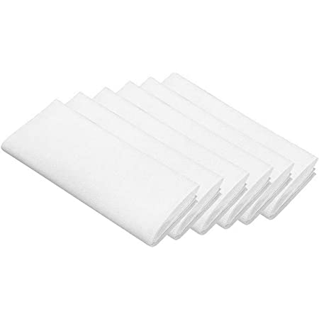 Lintex Classic Hemstitch Fabric Napkin Set Bisque Easy Care Cotton Blend Napkins with Hemstitching and Mitered Corners Set of 4 Napkins