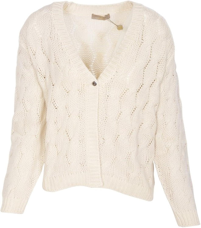 Cruciani Cardigan Women's OffWhite Regular Fit Cashmere Casual 44 IT