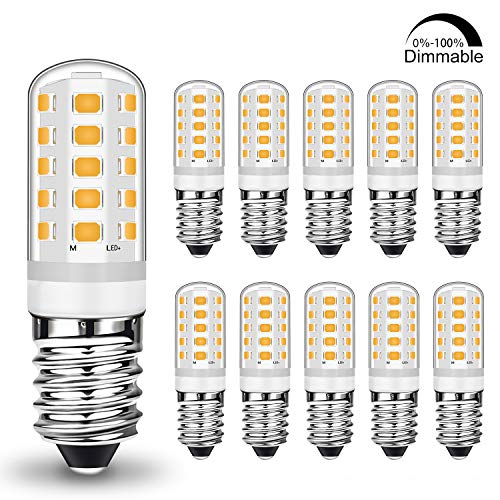 Preisvergleich Produktbild E14 LED Dimmbar Warmweiß 5W Led Lampe Ersatz 28W 33W 40W Halogenlampe,  E14 Sockel Led leuchtmittel 400LM Kein Flackern,  AC 220-240V,  10er Pack