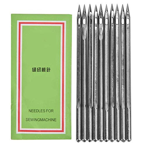 Save %9 Now! HEEPDD 10 Pcs Shoe Repairing Machine Needle Silver Stainless Steel Sewing Needles Shoe ...