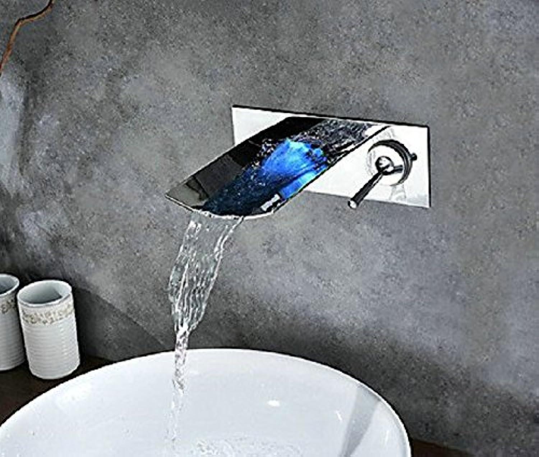 LHbox Basin Mixer Tap Bathroom Sink Faucet The waterfall faucet waterfall faucet led hydropower waterfall faucet basin mixer