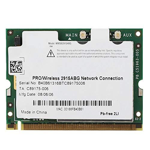 Pokerty Tarjeta de Red LAN inalámbrica, Intel 2915ABG 54M Tarjeta de Red LAN inalámbrica de Banda Dual 2.4G / 5G para Win2000 / XP/Vista