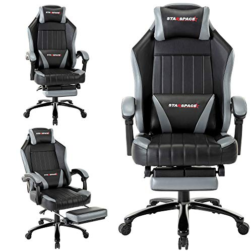 Starspace Recliner Gaming Chair with Footrest