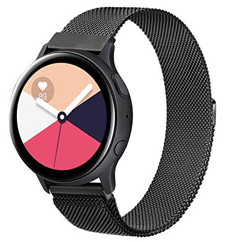 KOJJ Metallo 20mm Cinturino Compatible con Samsung Galaxy Watch Active 2 40mm 44mm/Active 40mm/Samsung Galaxy Watch 42mm/Galaxy Watch 3 41mm, Cinturini per Gear S2 Classic/Gear Sport