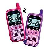 VTech KidiTalkie 6 en 1, Walkie Talkie, envía Mensajes y Juega con una conexión Segura, Mantener Las distancias al Hablar, versión ESP, Color Rosa (3480-518557)