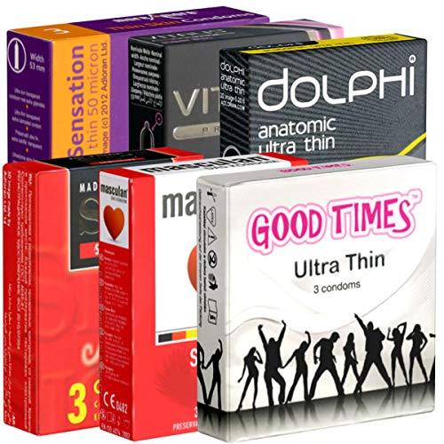 Der Kondomotheke® Feel&Thin Mix SIXPACK - 6 Schachteln gefühlsechte Kondome, hauchzart, extra dünn