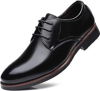 N / A Derby pour hommes Robe Derbies à bout rond en cuir Oxford Business Formal