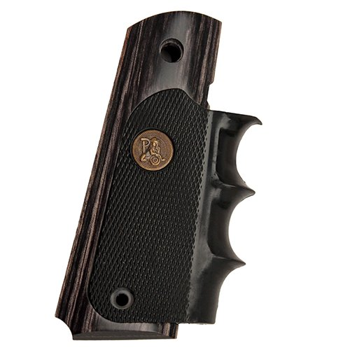 "Pachmayr American Legend 1911 ""Charcoal Silvertone"" Laminate Grip"