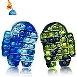 Kadunala - Lote de 2 moldes de silicona para niños y adultos, color azul y verde