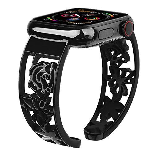 Pulsera Vigoss compatible con Apple Watch Series 6/SE de 38 mm/40 mm, oro rosa, de lujo, de acero inoxidable, para iWatch Serie 5, 4, 3, 2, 1, 38 mm/40 mm, correa de repuesto para mujeres y niñas