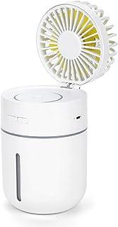 Mini Ventilador con batería Humidificador Recargable USB Enfriador de Aire Mesa de Oficina Escritorio Mist Spray Ventilador portátil Ventilador de Viaje al Aire Libre
