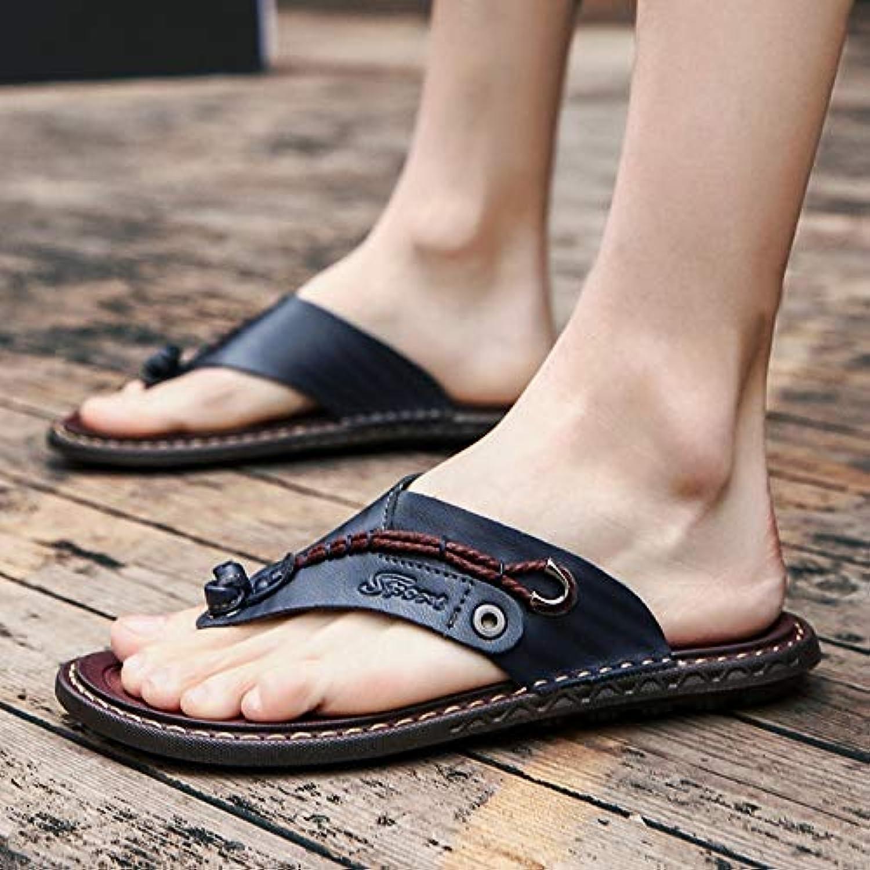 Shukun Men's flip flops Slippers Men'S Summer Outdoor Men'S Flip-Flops Personality Pinch Sandals Non-Slip Beach shoes Large Size