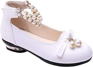 [uirendjsf] 子供 メアリージェーン - 女の子 サンダル 王女 ロールプレイング ダンス 結婚式 学校の靴 かわいい カジュアル ラインストーン ベルクロ