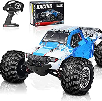 RC Cars 45KM/H+ High Speed Remote Control Car for Adults 1/12 4WD IPX5 Waterproof All Terrains Off Road Monster Trucks 2.4GHz Hobby Toys Cars with Brushed Motor and 7.4V Large Battery Pack