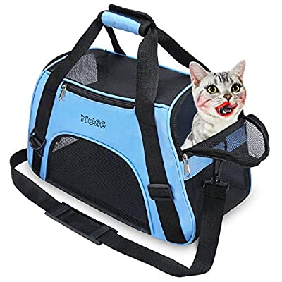 YLONG Cat Carrier Airline Approved Pet Carrier,Soft-Sided Pet Travel Carrier for Cats Dogs Puppy Comfort Portable Foldable Pet Bag,Airline Approved