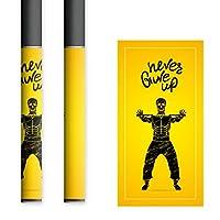 お得な2枚セット。貼るだけでかんたん着せ替え、プルームテック、プルームテック互換スティック対応、スキンシール。プルームテックを自分好みのデザインでおしゃれにコーディネート。自分のプルームテックの目印にもなります。 電子たばこ タバコ 煙草 喫煙具 デザイン おしゃれ プルームテックシール スカル 08 01-pt0022
