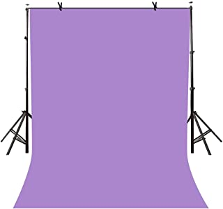 LYLYCTY 5x7ft Photography Studio Non-woven Backdrop Light Purple Backdrop Solid Color Backdrop Simple Background LY087