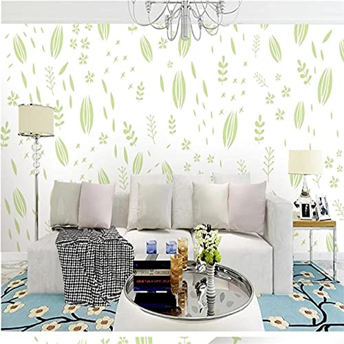 Guyuell Custom 3D Pastoral Style Wallpapers Green Leaf Photo Wall Murals for Living Room Bedroom Walls Background Wall Paper Home Decor-250X175Cm