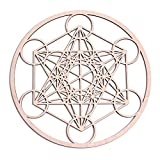 Fourth Level Manufacturing 12 inch Metatron Cube Wooden Wall Art Home Decor Sacred Geometry