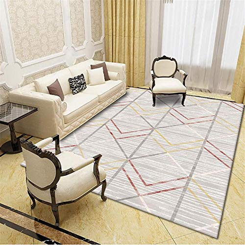 Carpets decorations for bedroom Grey brown yellow line geometric carpet non-slip and non-fading living room salon decor fireside rug 160*230cm