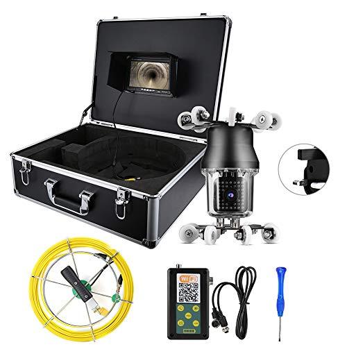 Endoscopio WiFi IP Cámara 38LED Rotación 360 grados para inspección de tuberías (regulaciones británicas (100-240V))