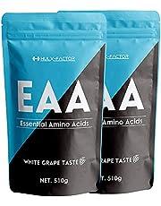 [白ぶどう味] 必須アミノ酸 サプリ EAA 415430mg ハルクファクター 1.02kg 106食分 パウダー 国産