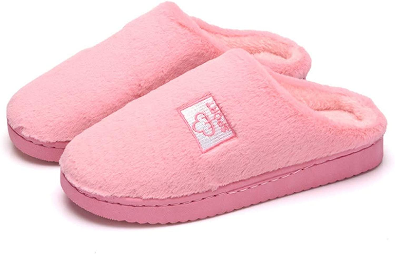 Women's Men's Slippers Women House Slippers Memory Foam Warm Indoor Outdoor Anti-Skid Rubber Sole Slip On shoes House shoes Indoor Outdoor (Size   7 US)