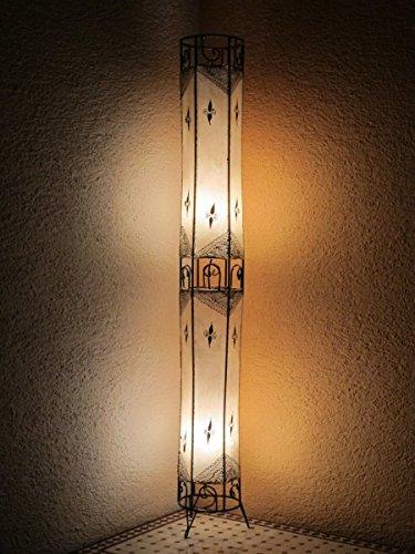 Saharashop Marrakesch Henna - Lámpara de pie (150 cm, cuero), diseño oriental