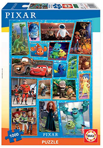 Educa- Pixar Family Puzzle, 1 000 Piezas, Multicolor (18497)