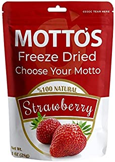 Mottos Freeze Dried Strawberry, 1 oz,100% Natural, Only Natural Ingredients,No Sugar Added,Real Fruit Strawberry