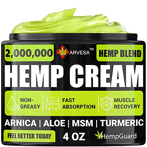 Hemp Pain Relief Cream - Relieves Muscle, Joint Pain - Lower Back Pain -...