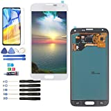 LCD Screen Replacement for Samsung Galaxy S5 I9600 SM-G900 G900M G900A G900T G900FD LCD Touch Screen Display Digitizer Assembly (White)