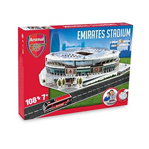 New Arsenal Football Emirates Stadium Replica Fun Home Ground 3D Puzzle Game by Arsenal F.C.