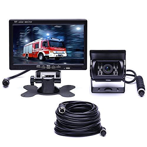 Car F0505 HD 7 inch LED-monitor voor auto 18 inch IR-beveiligingscamera met 10 m kabel + hoge kwaliteit