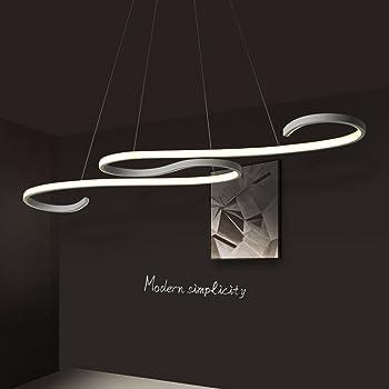 Lampada a sospensione moderna lampadario Lampadario Lampadario Lignt LED Artigianato acrilico per ristorante/Ufficio/Soggiorno/Camera da letto/Caffè/Bar
