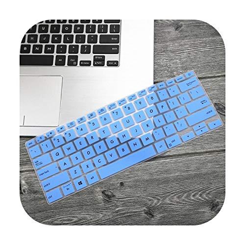 Laptop-toetsenbord, 14 inch, voor Asus Zenbook 14 Ux433 Ux433Fn Ux433Fa8265 2019 laptop toetsenbord, deksel voor huid Blauw
