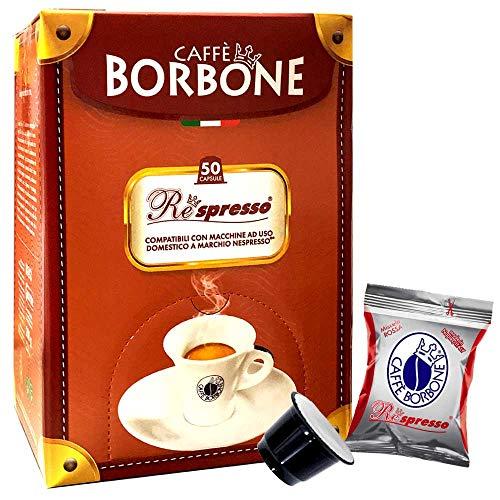 Caffè Borbone Nero Blend - 50 Nespresso Compatible cápsulas de café Espresso Italiano Made in Nápoles