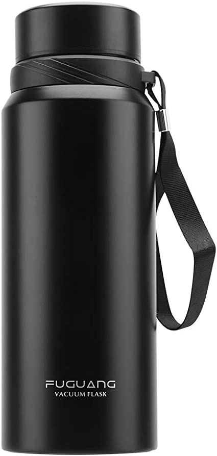 Amazon Com Fuguang Portable Large Size Vacuum Insulated Stainless Steel Water Bottle For Fitness And Outdoor Enthusiasts Keep Drinks Hot 24 Hours And Cold 12 Hours Black Home Improvement