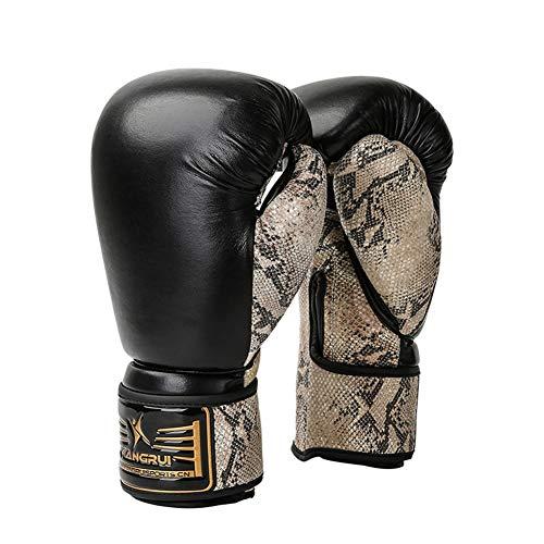OUTEC Boxhandschuhe 10oz Python-Muster Professionelle PU-Leder-Boxen Trainings-Handschuhe Adult Kickboxen Kampf Muay Thai Gym Training