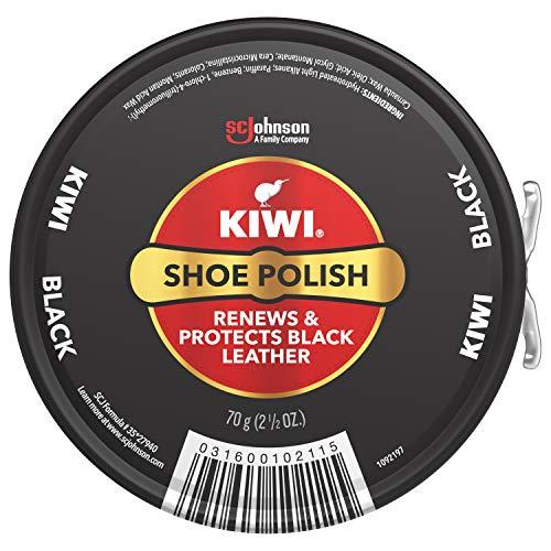 KIWI Shoe Polish, Black, 1 Metal Tin,  2.5 oz