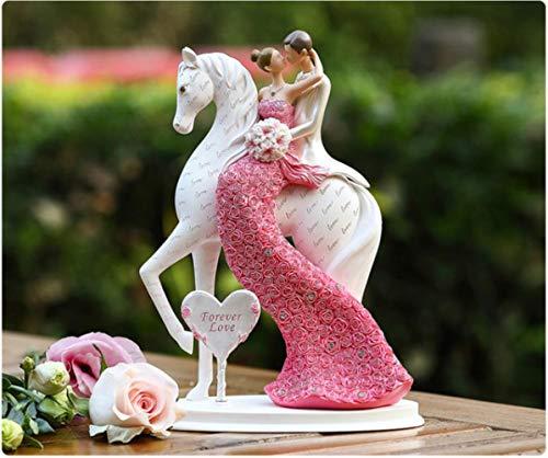 Soode Bruid en bruidegom op het paard bruiloft taart topper beeldjes bruiloft decoratie geschenken gunsten verloving