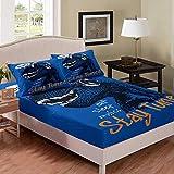 Svvsovs 3D lecho de Imprimir Duvet Cover Set 135 x 200 cm bedcloth con la Funda de Almohada Juego de Cama Textiles for el hogar Individual Doble Rey Queen Size Animal tiranosaurio Azul - Traje de ed