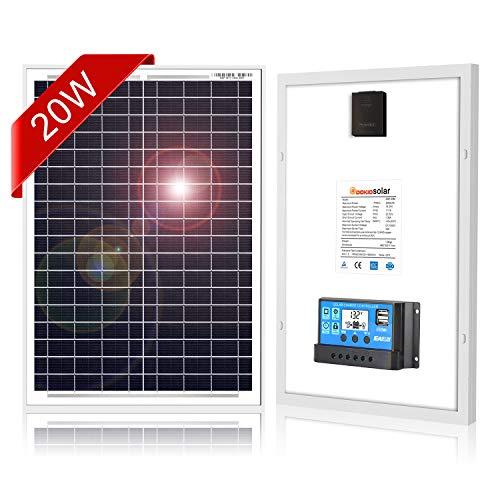 DOKIO 20W Paneles solares policristalinos para carga de batería de 12V
