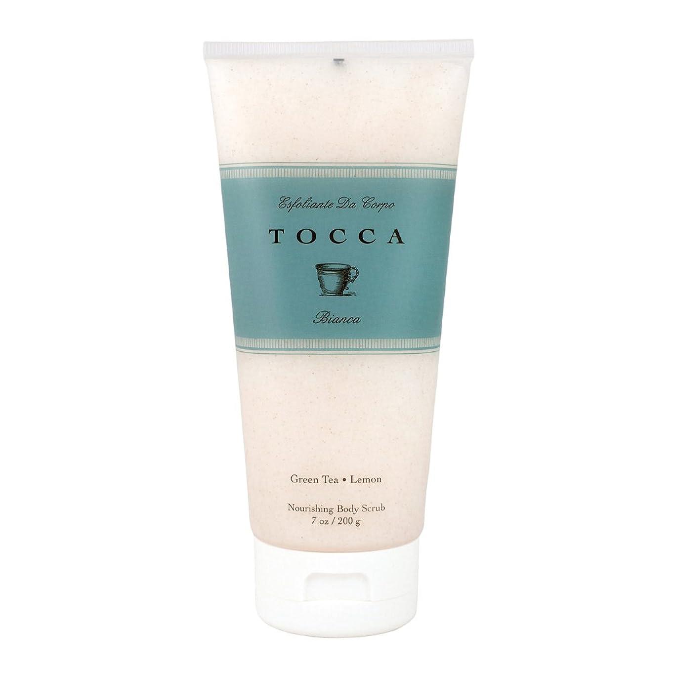 折り目不和安らぎトッカ(TOCCA) ボディーケアスクラブ  ビアンカの香り 200ml(全身?ボディー用マッサージ料 シトラスとグリーンティー、ローズが絶妙に溶け合ったほのかに甘さ漂うフレッシュな香り)