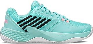 حذاء التنس النسائي من K-Swiss Aero Court (أزرق أزرق أزرق / أبيض وردي نيون ناعم، 5. 5)