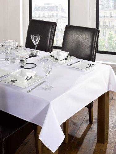 TRATTORIA Luxe Traiteur Banqueting Blanc Nappe 127 x 177,8 cm Environ Heavy Duty Nappe en Lin